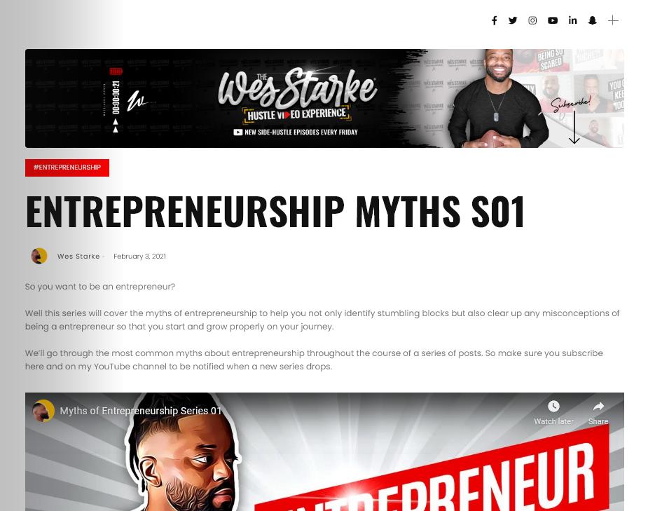 Entrepreneurship Myths Post